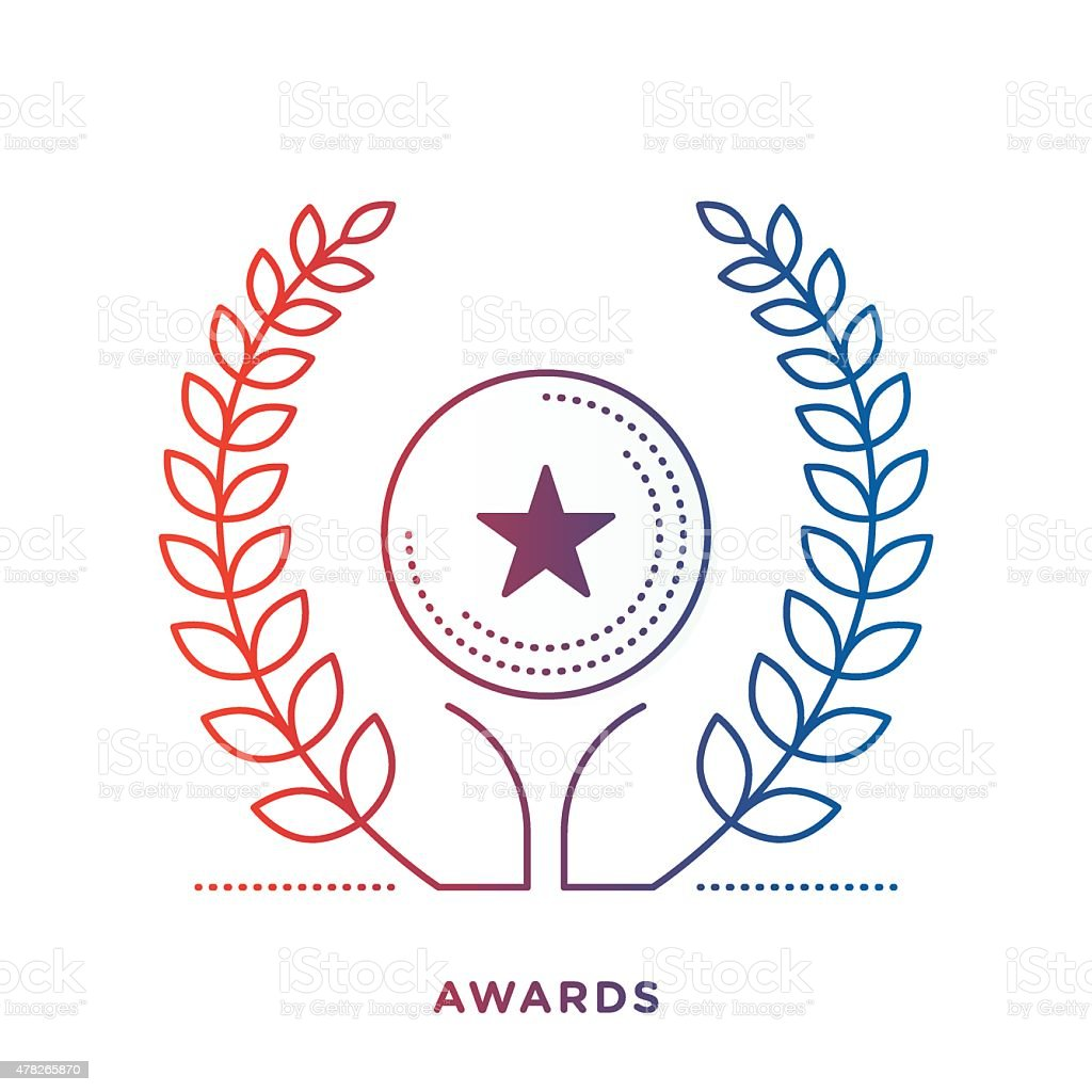 Award Symbol vector art illustration