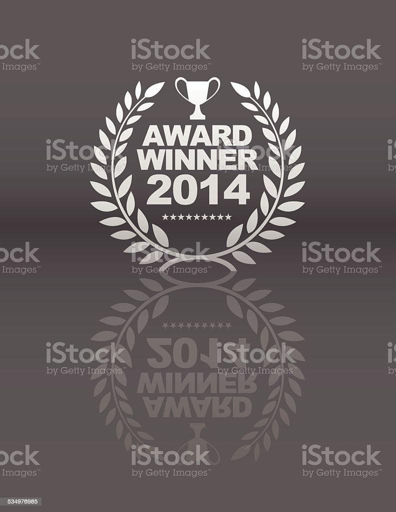 Award Winner emblem vector art illustration