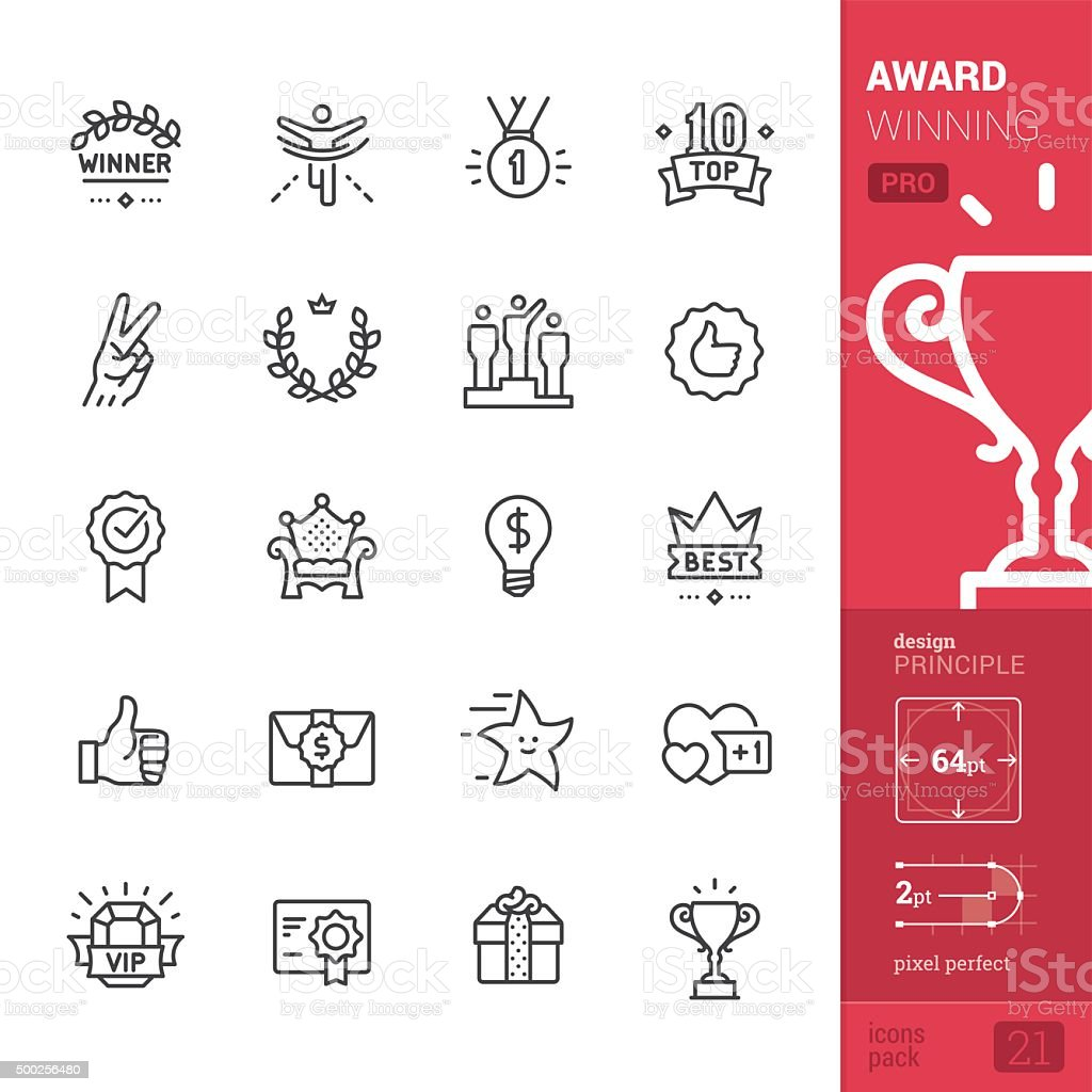 Award Winning related vector icons - PRO pack vector art illustration