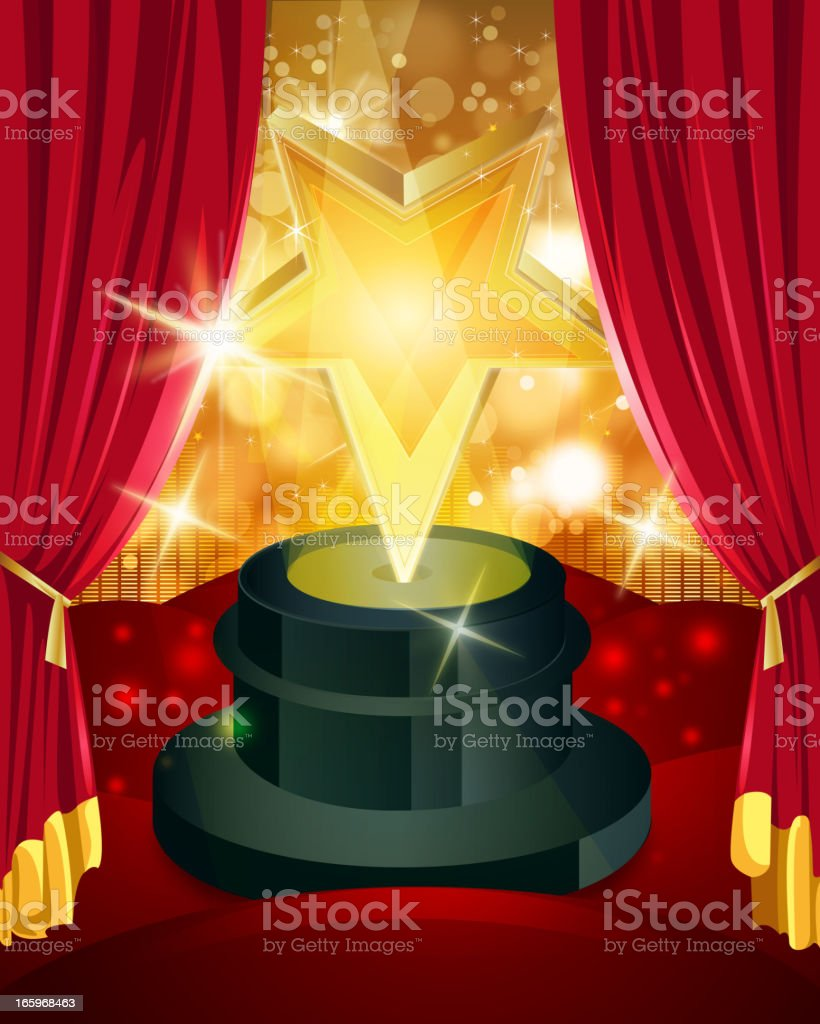 Award with Bright Flashy Background royalty-free stock vector art