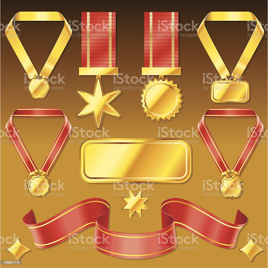 Awards and Medals royalty-free stock vector art