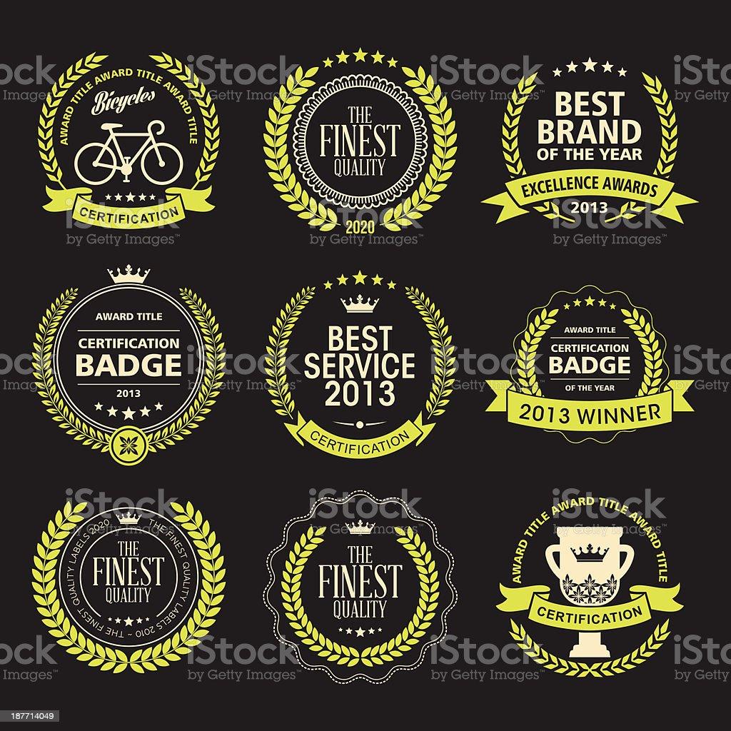 Awards badges vector art illustration