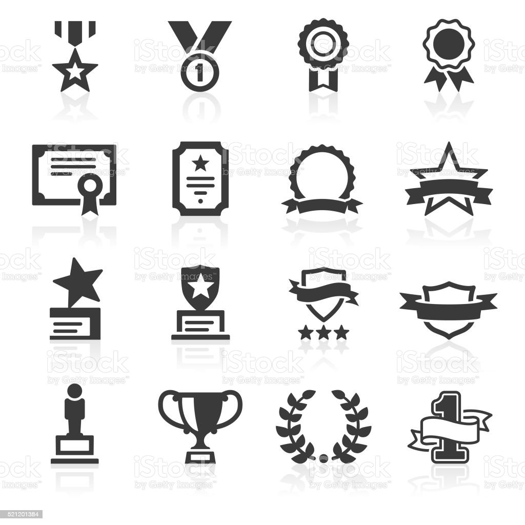 Awards & Commendations Icons vector art illustration