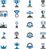 Awards icons set