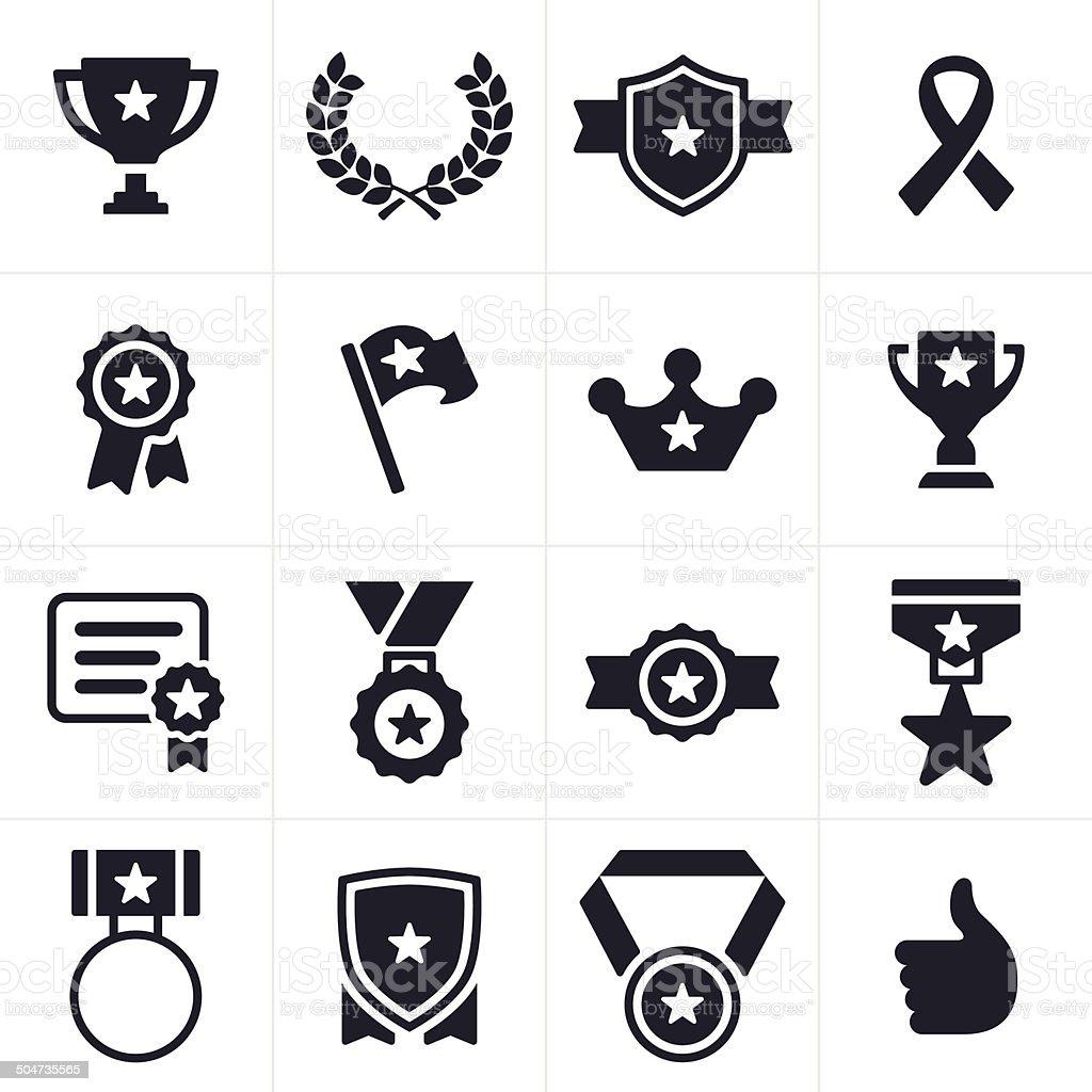 Awards Icons vector art illustration