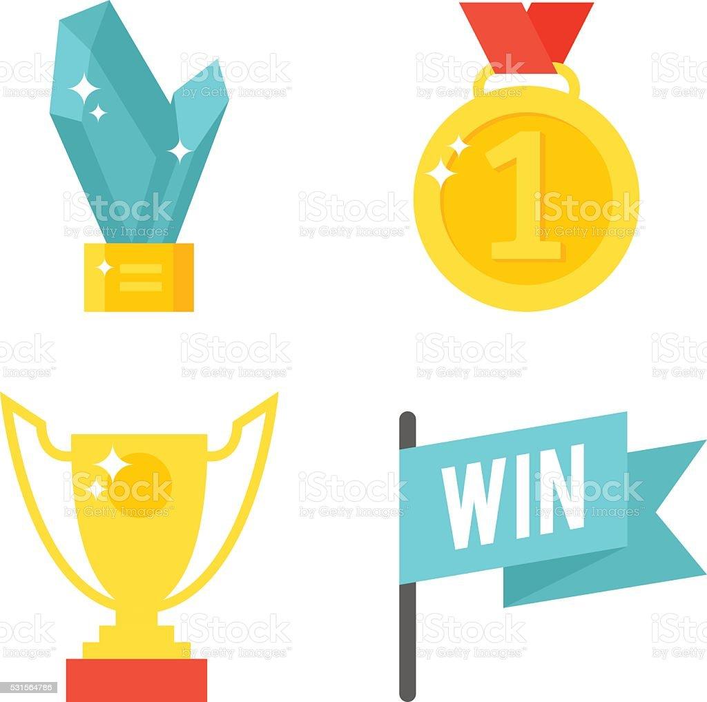 Awards isolated vector illustration vector art illustration