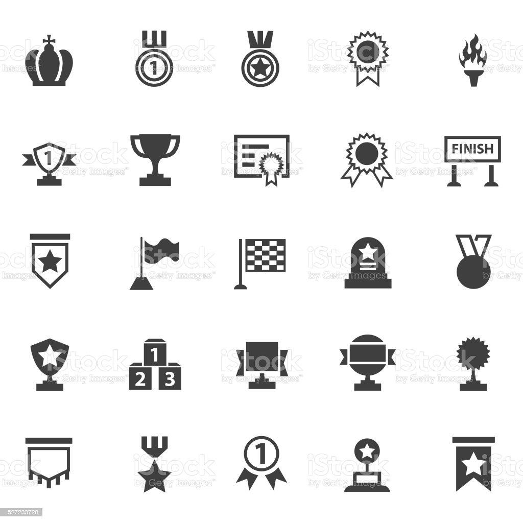 Awards lables icons set vector art illustration