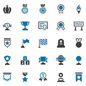 Awards lables icons set