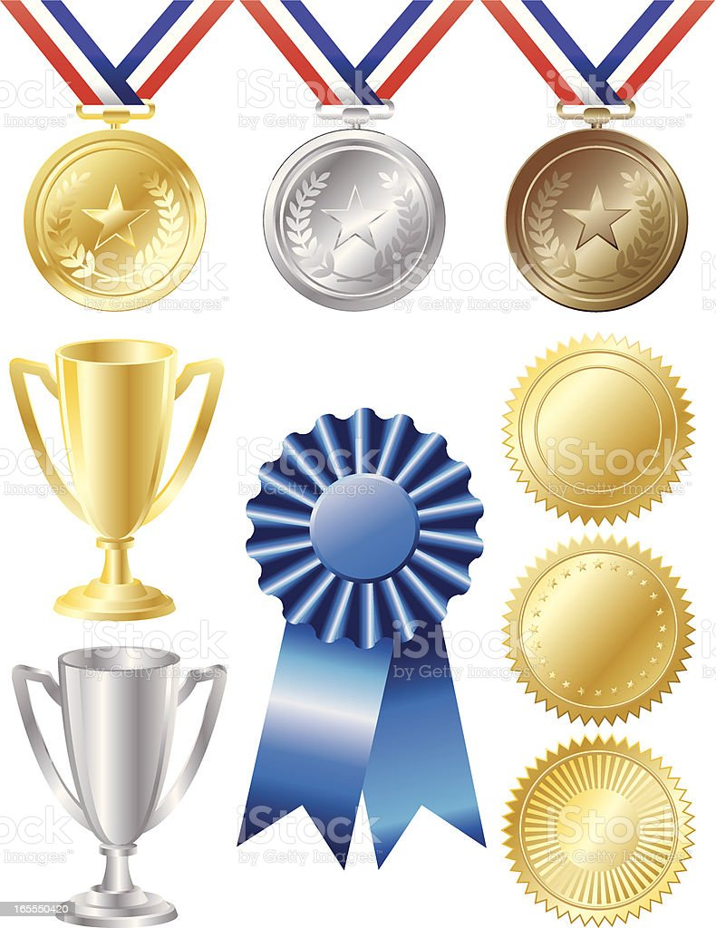Awards vector art illustration