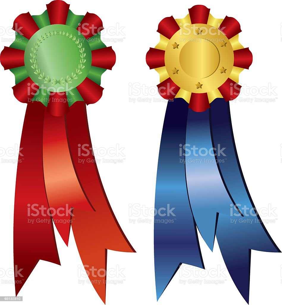 Awards with Ribbons Illustration royalty-free stock vector art