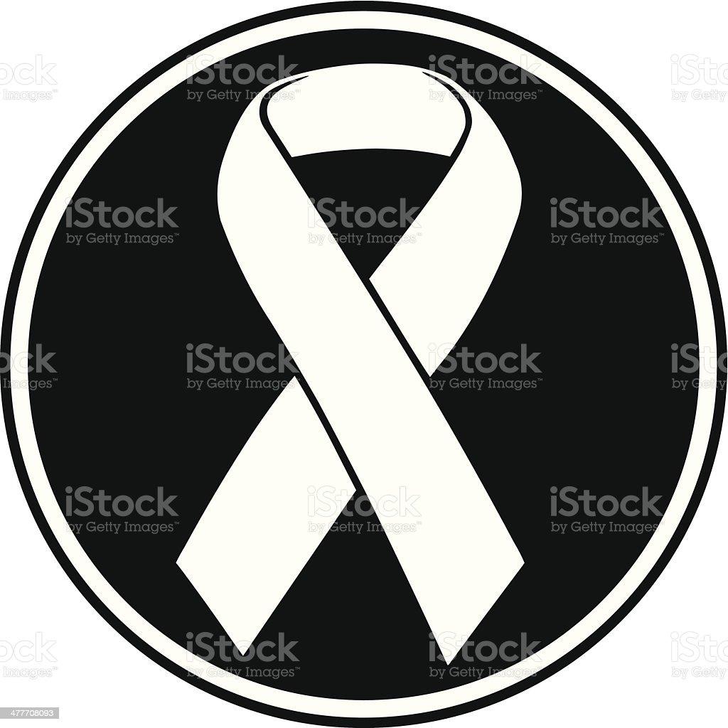 Awareness Ribbon Insignia vector art illustration