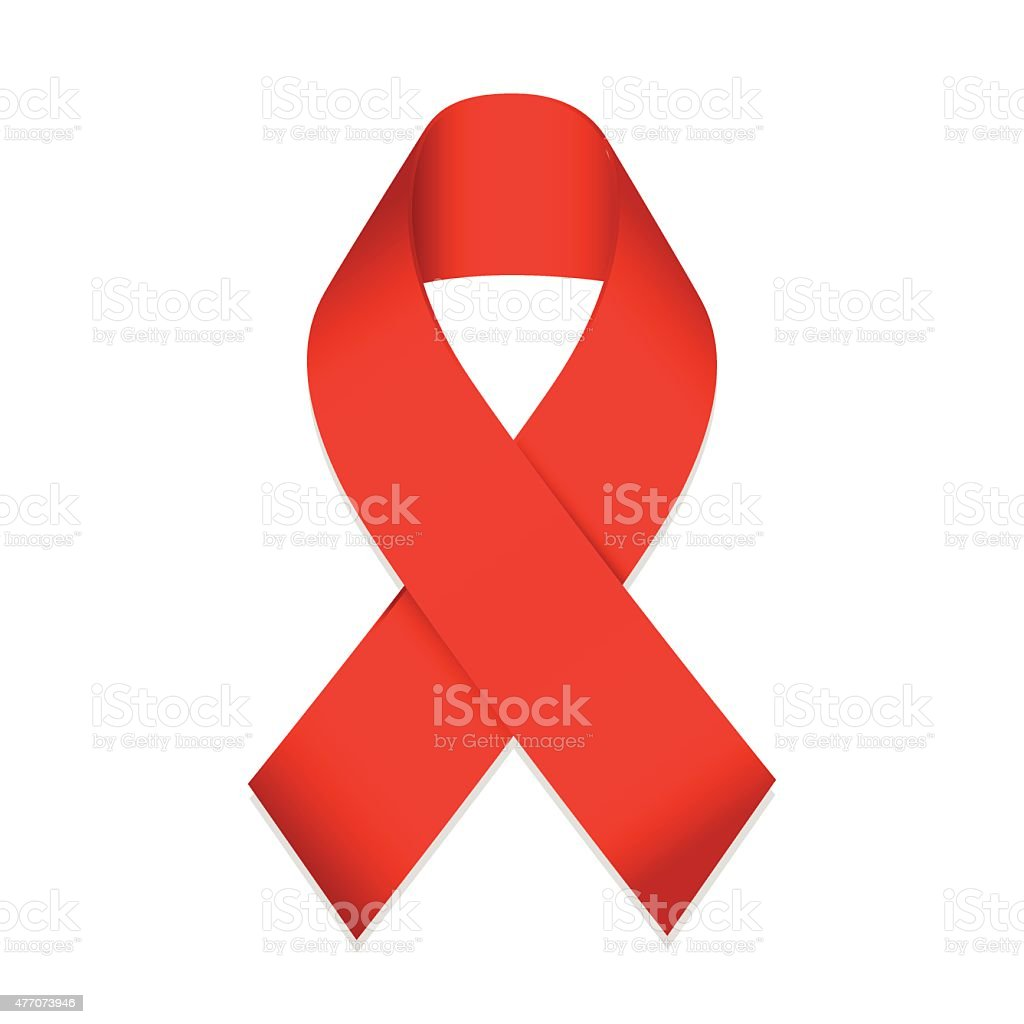 AIDS Awareness Ribbon vector art illustration