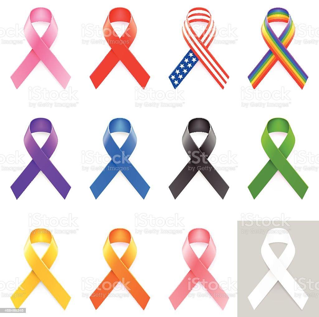 Awareness Ribbons royalty free vector graphics vector art illustration