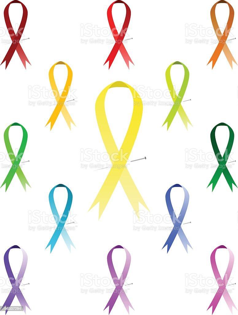 Awareness Ribbons ~ Vector vector art illustration