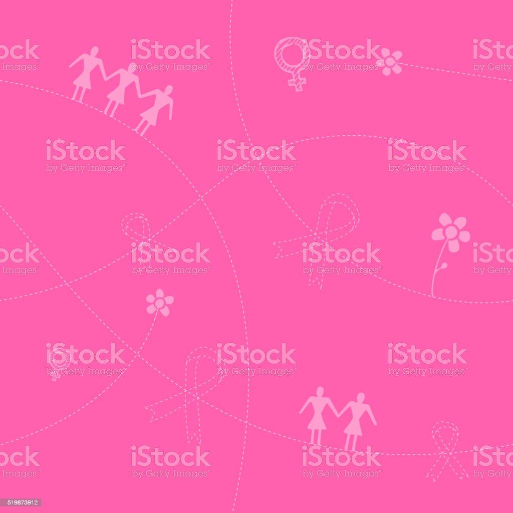 awareness seamless pattern vector art illustration