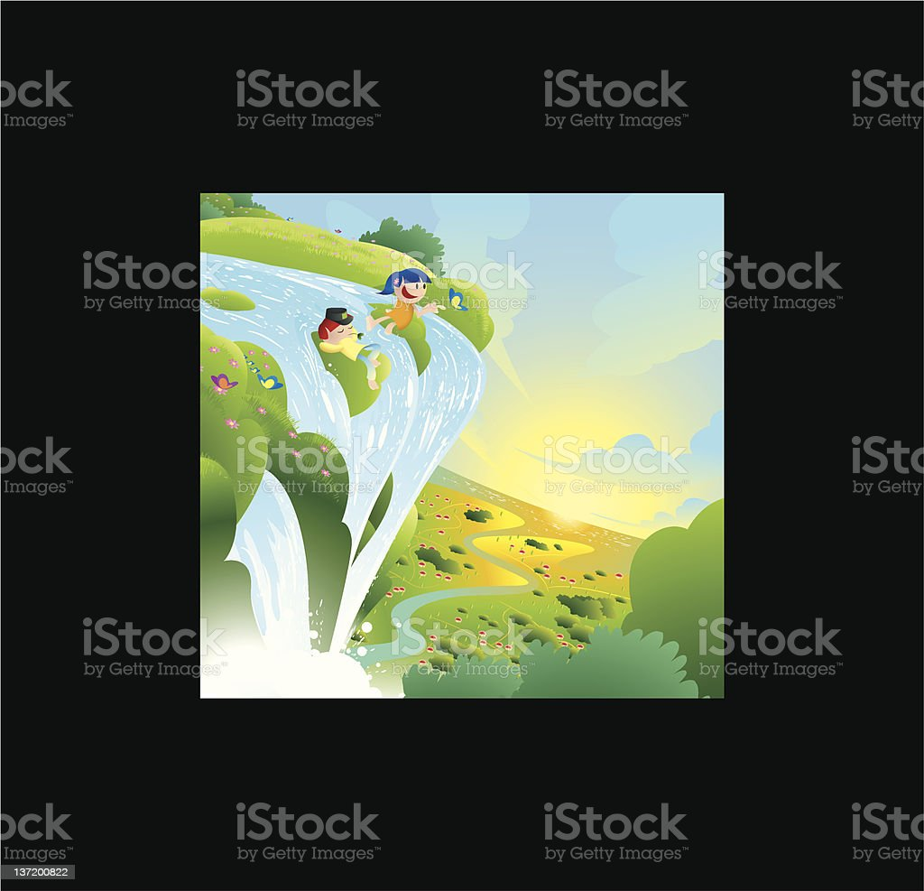 Away royalty-free stock vector art