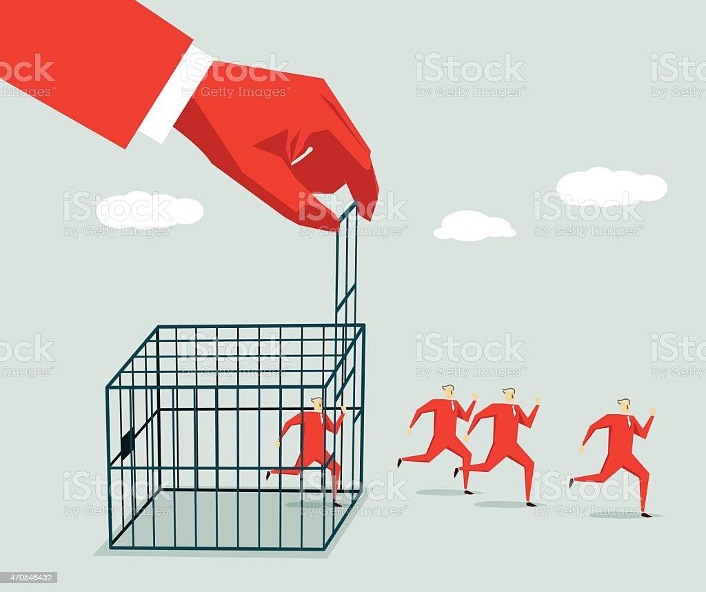 Away-Illustration vector art illustration