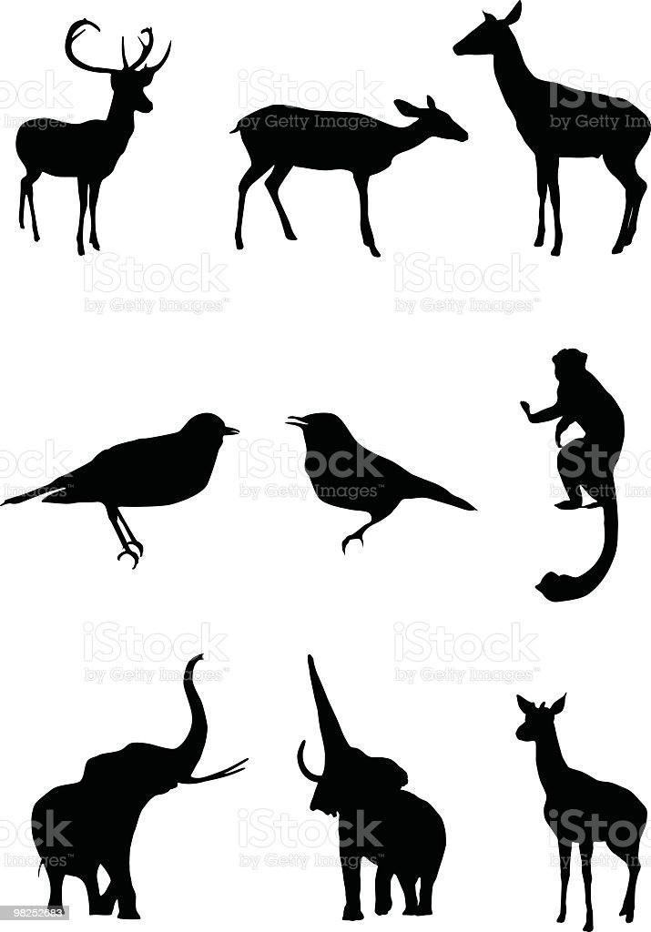 Awesome animals to use in your design royalty-free stock vector art
