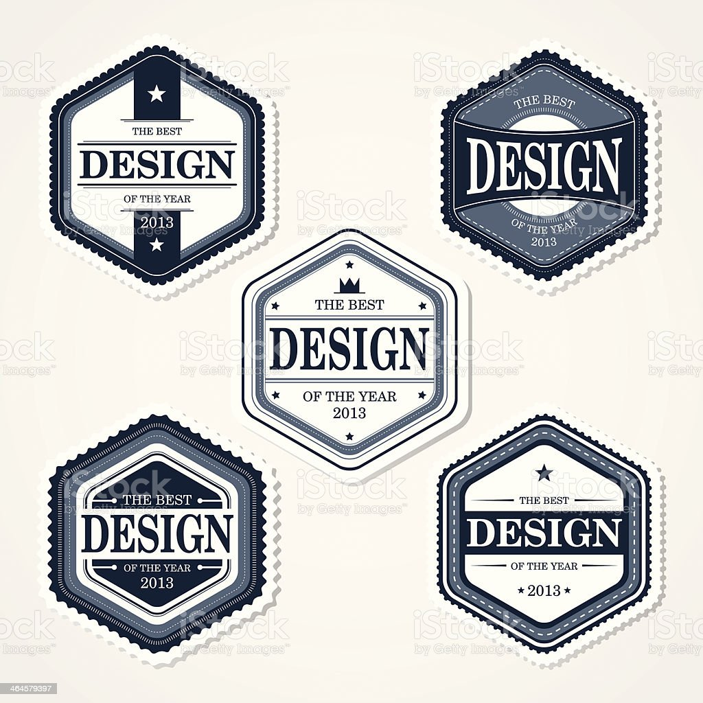 Awesome Badges Template 2 royalty-free stock vector art