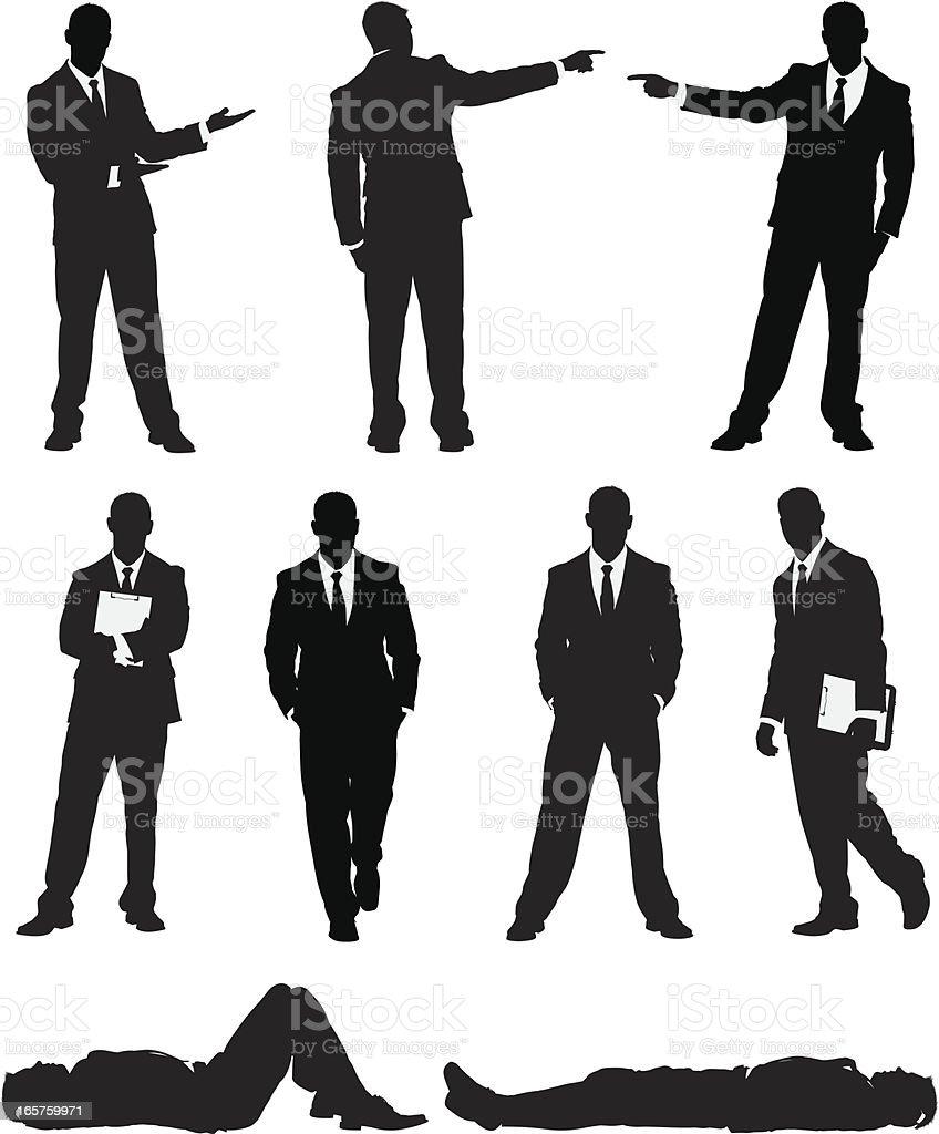 Awesome businessman vector art illustration