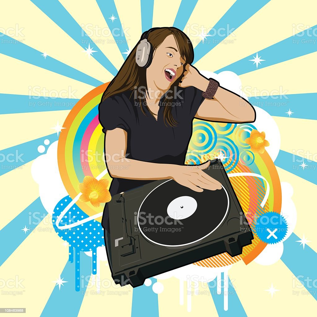 Awesome music royalty-free stock vector art