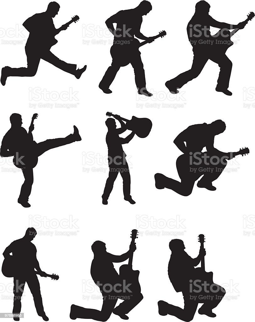 Awesome rock stars royalty-free stock vector art