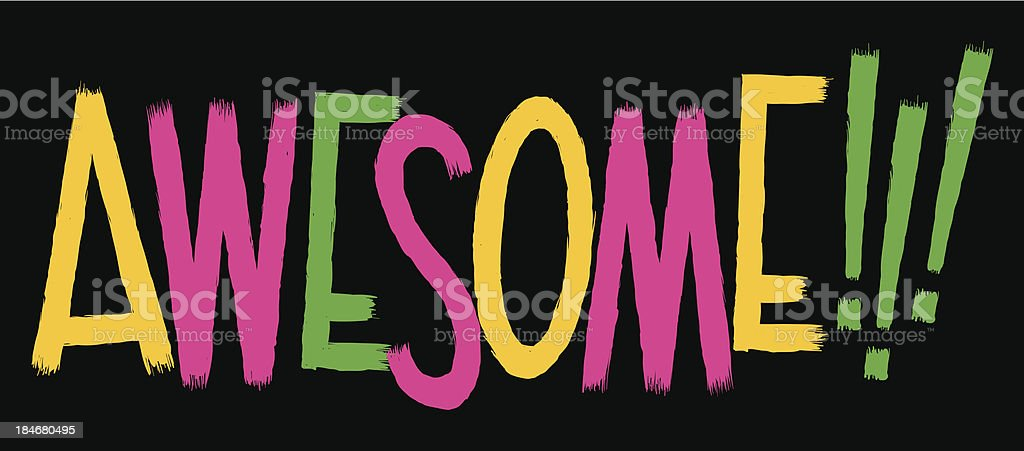 Awesome Text royalty-free stock vector art