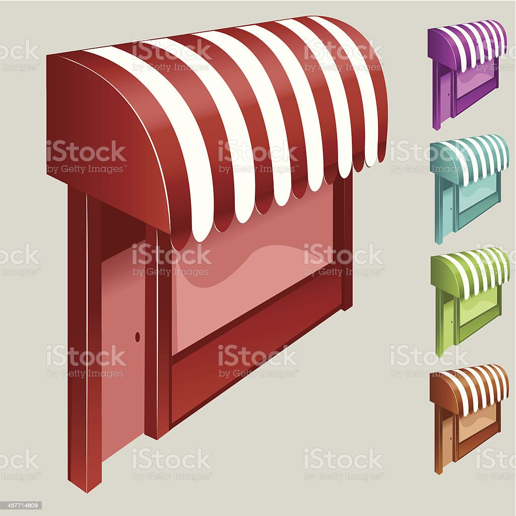 Awnings royalty-free stock vector art