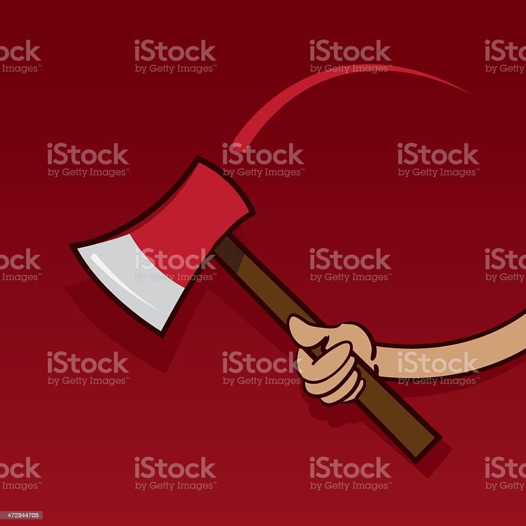 Ax Swing Hand royalty-free stock vector art