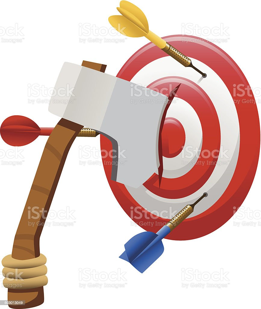 Axe Darts Target royalty-free stock vector art