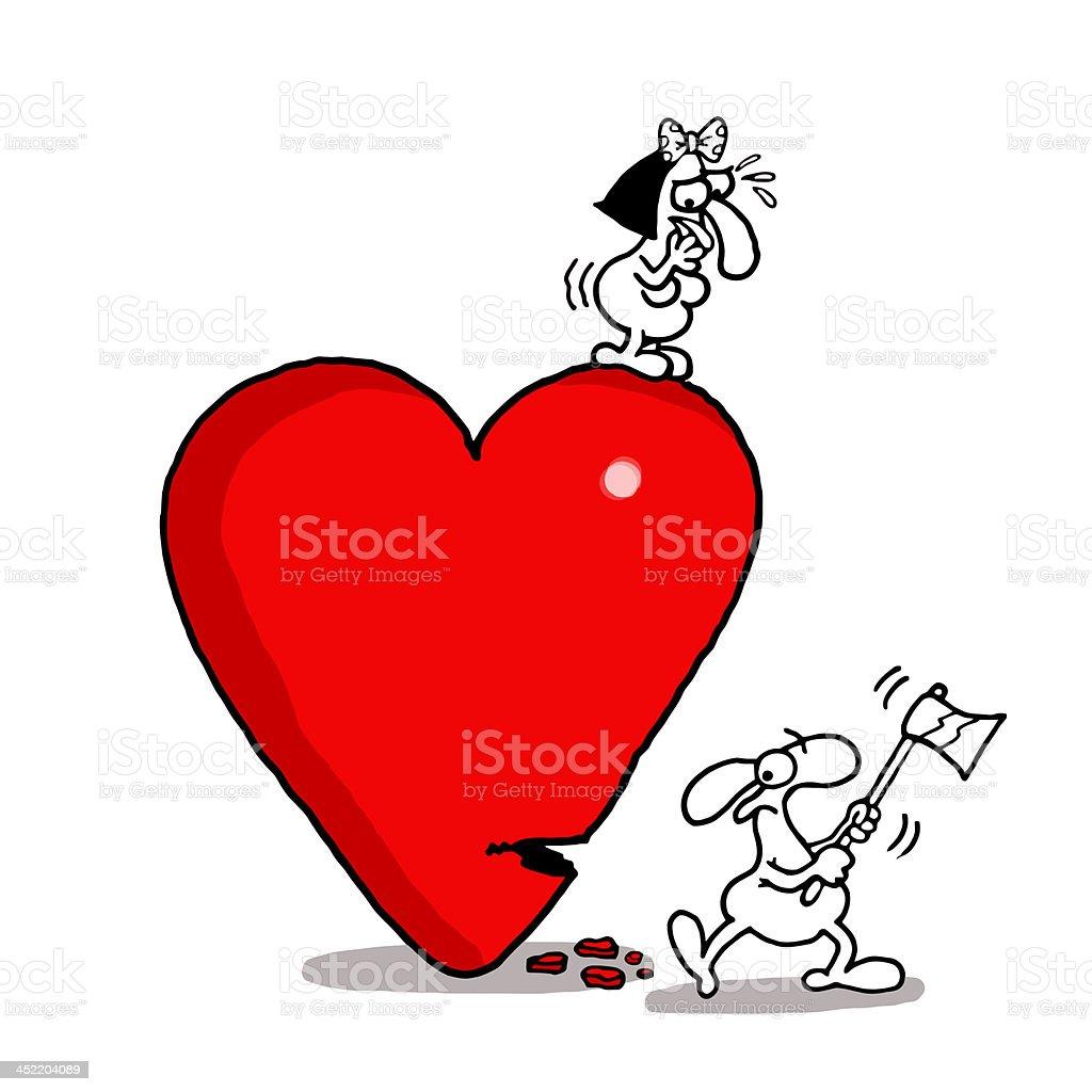 Axing Love royalty-free stock vector art