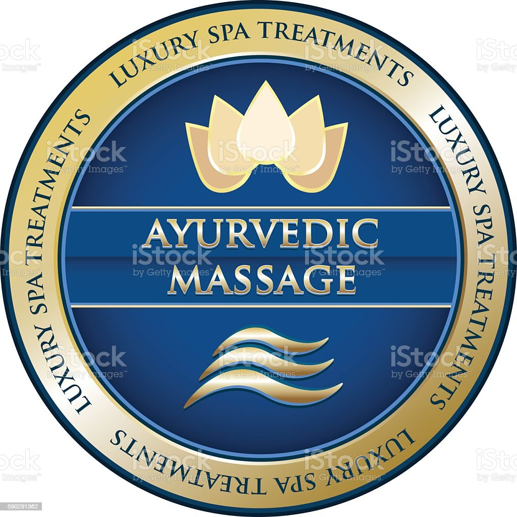 Ayurvedic Massage vector art illustration