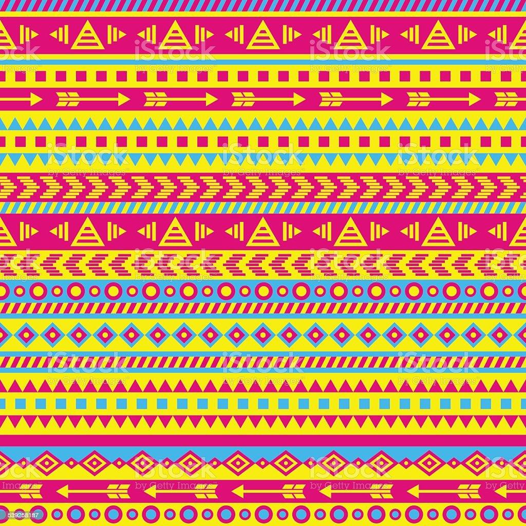 aztec pattern vector art illustration