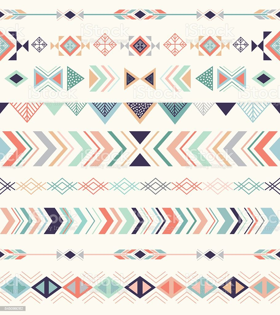 Aztec pattern. vector art illustration
