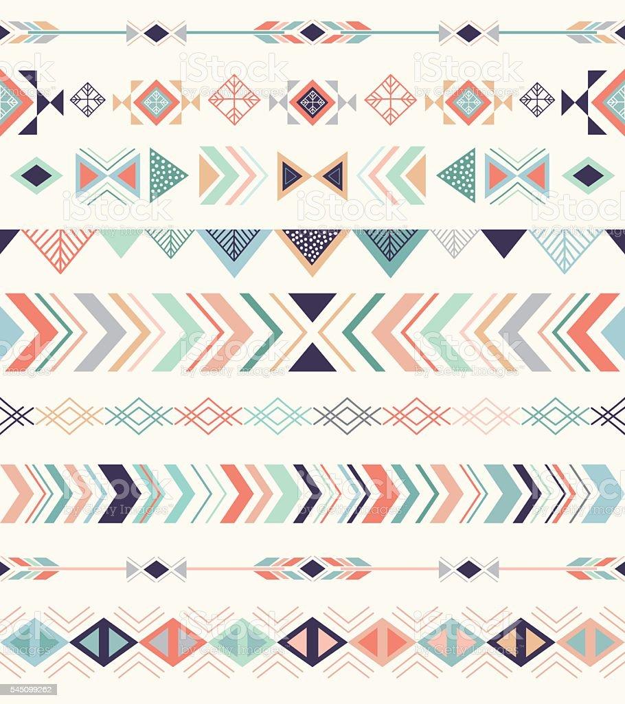 Aztec pattern. vector art illustration