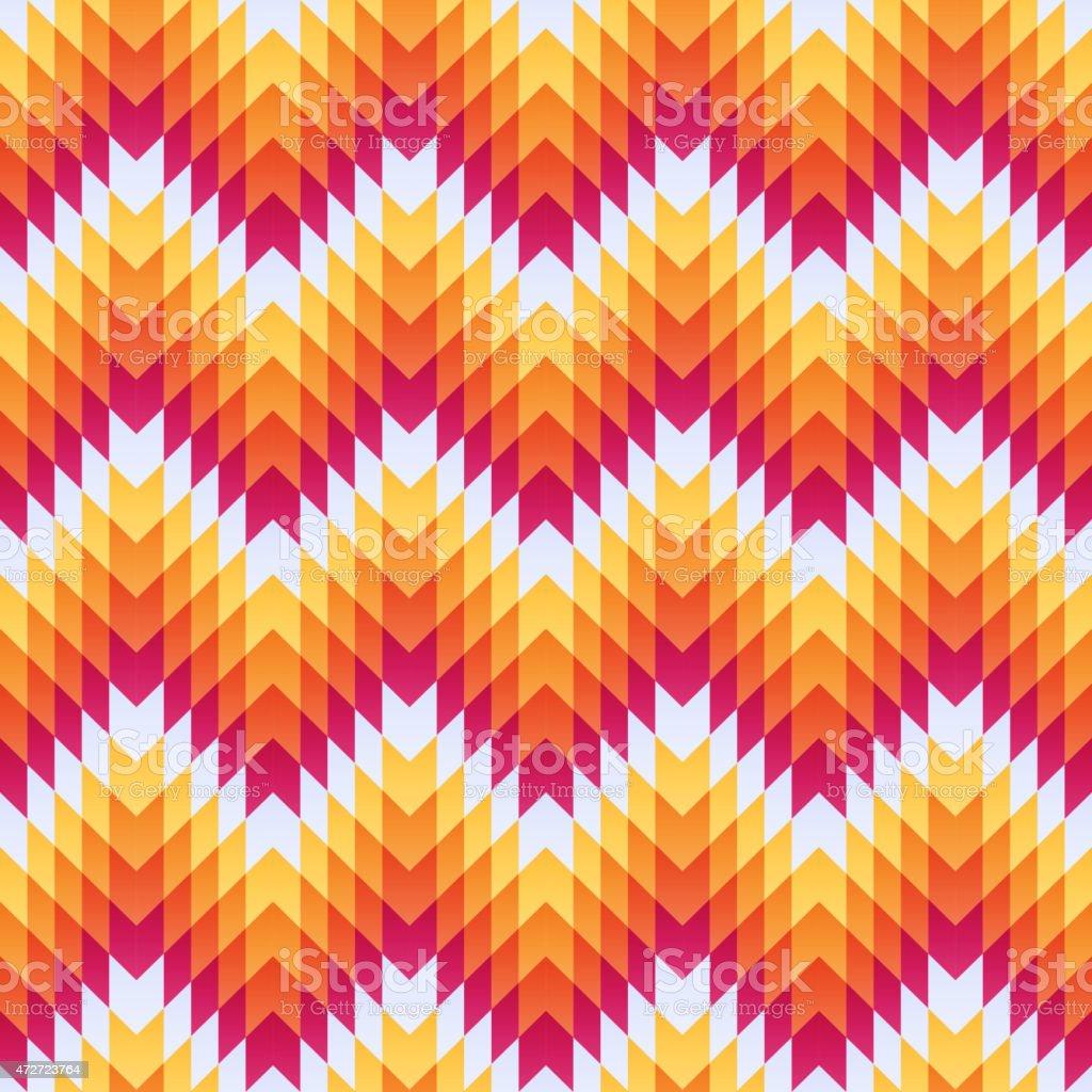 Aztec seamless pattern vector art illustration