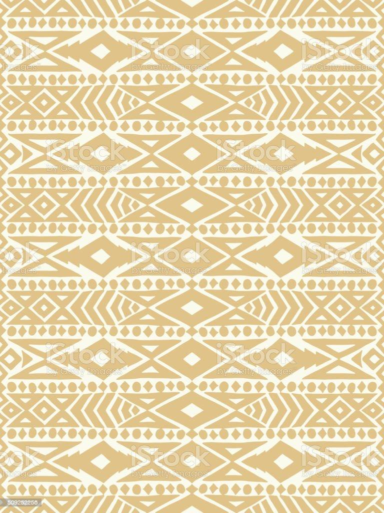 Aztec tribal mexican seamless pattern vector art illustration