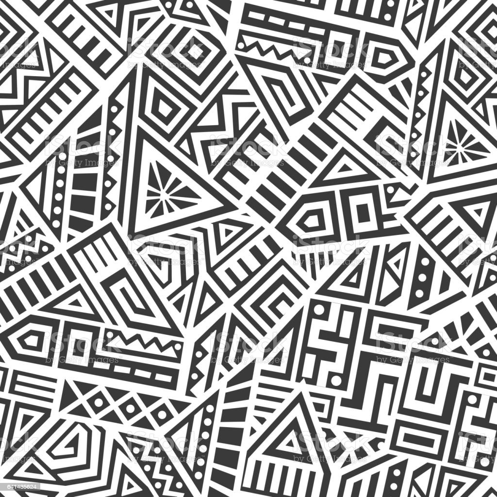 Aztec Vector Seamless Pattern vector art illustration