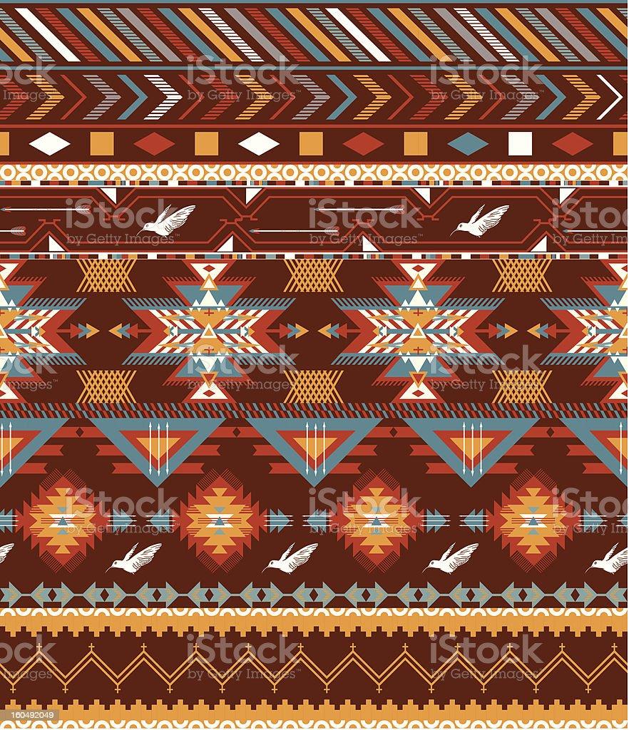 Aztecs seamless pattern with birds royalty-free stock vector art