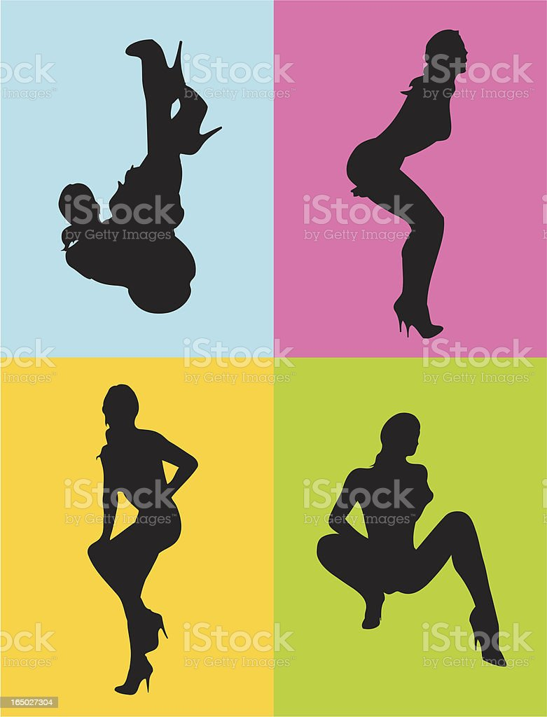 Babes silhouette royalty-free stock vector art