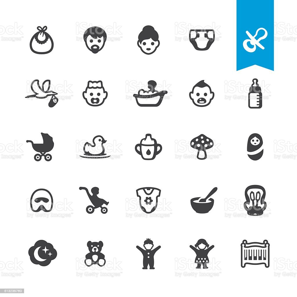 Babies vector icons vector art illustration