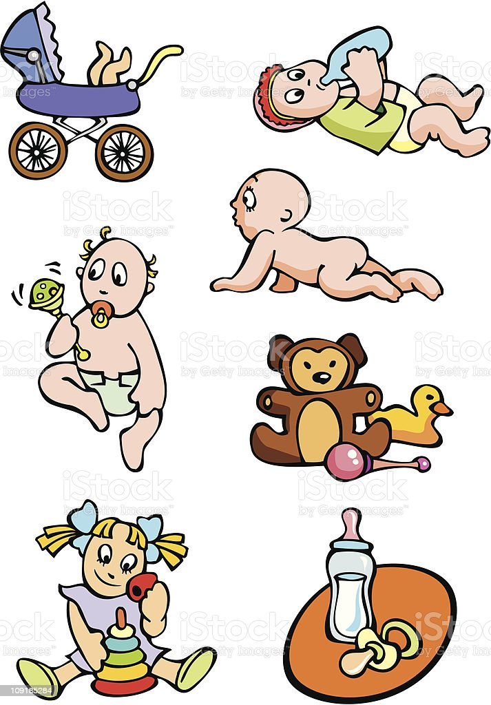 Babies royalty-free stock vector art
