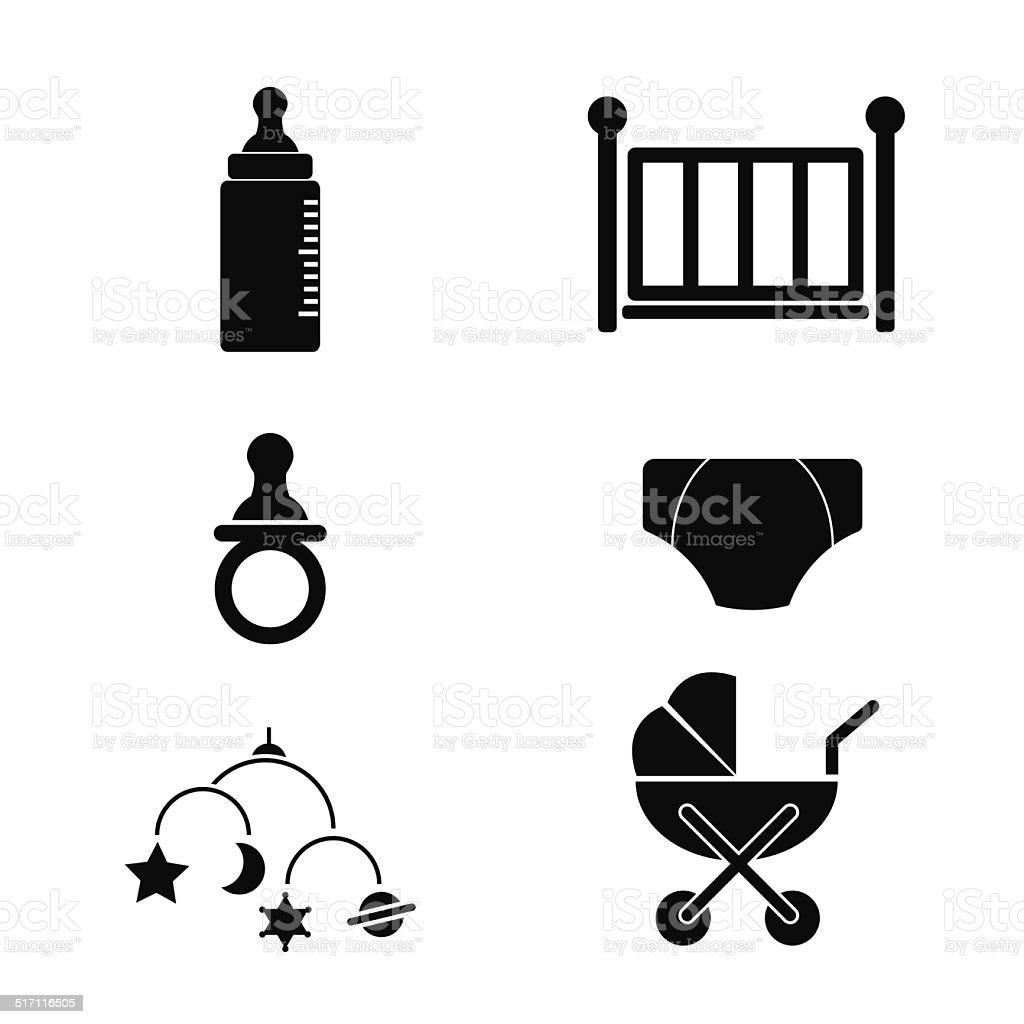 Baby Accessories Icon vector art illustration