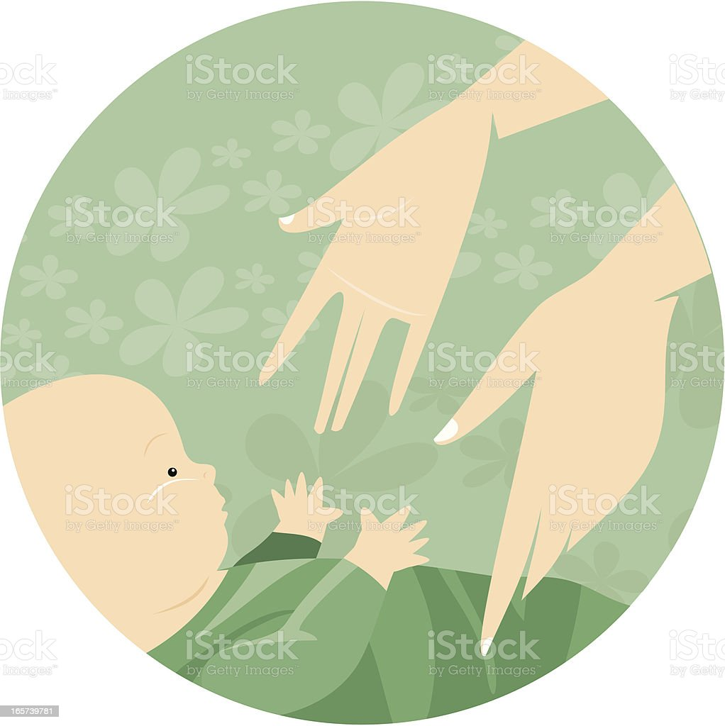 baby and mom royalty-free stock vector art