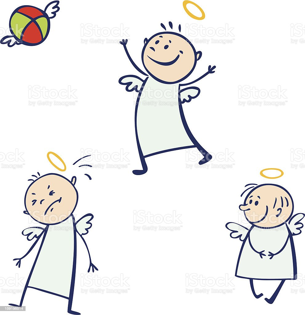 Baby angel set royalty-free stock photo