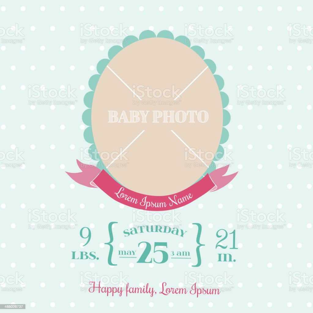 Baby Arrival Card royalty-free stock vector art