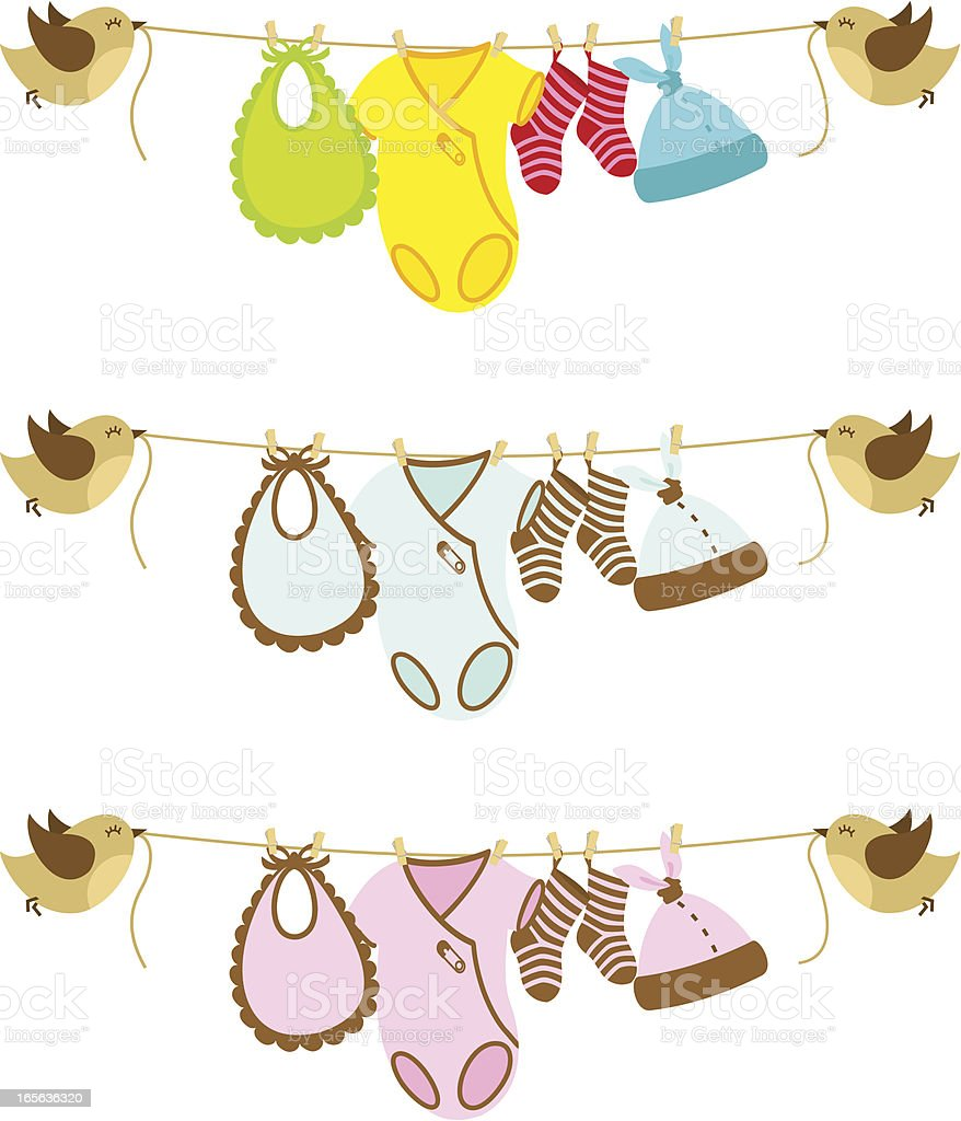 Baby banner vector art illustration
