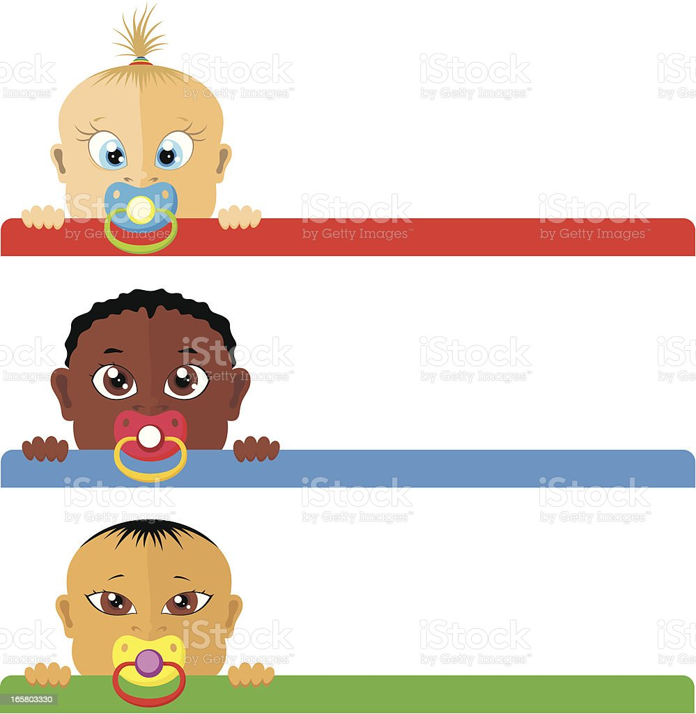Baby banners royalty-free stock vector art