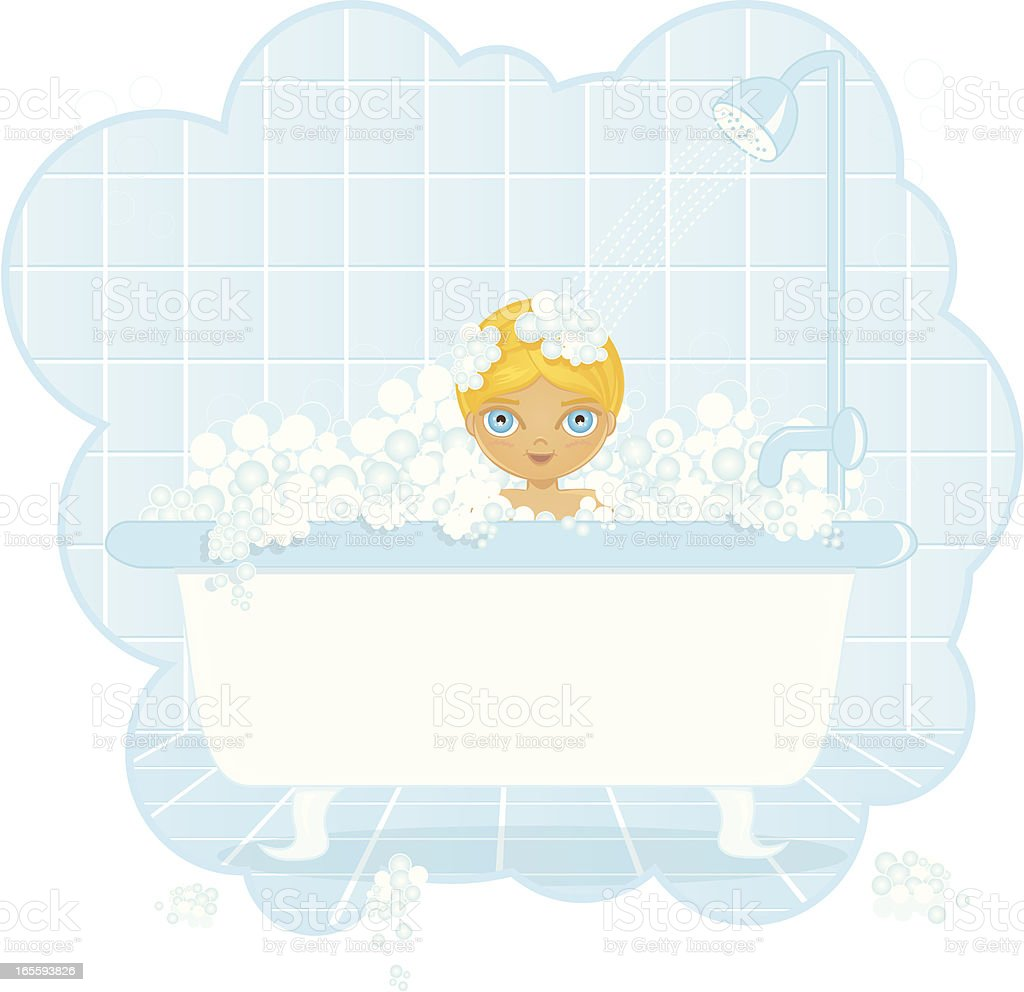 Baby Bath Bubble royalty-free stock vector art