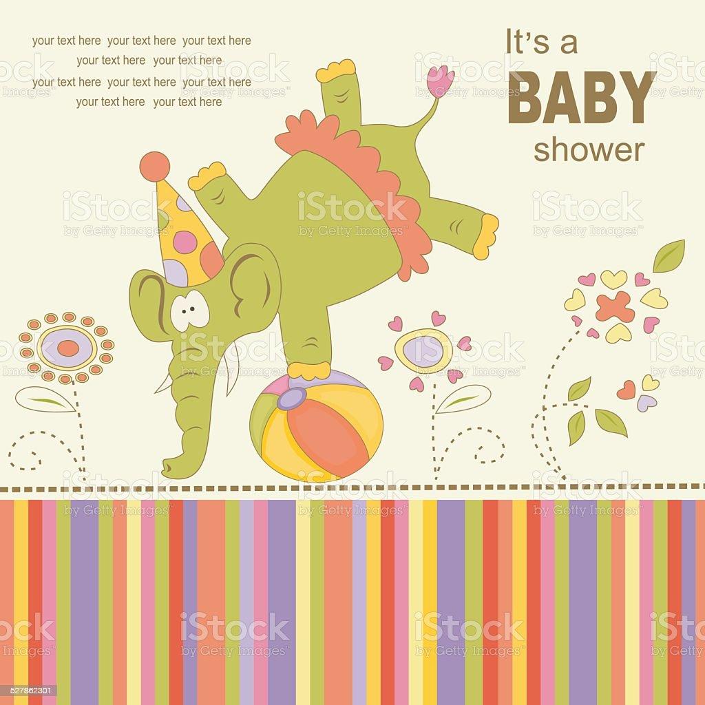 Baby Geburtstag Grußkarte Oder Einladung Lizenzfreies Vektor Illustration